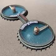 污水处理厂 3d model