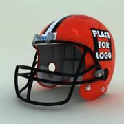 красный футбольный шлем 3d model