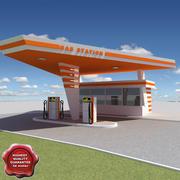 Gas station V21 3d model