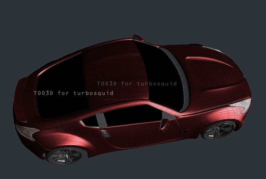 370Z NISSAN royalty-free 3d model - Preview no. 3