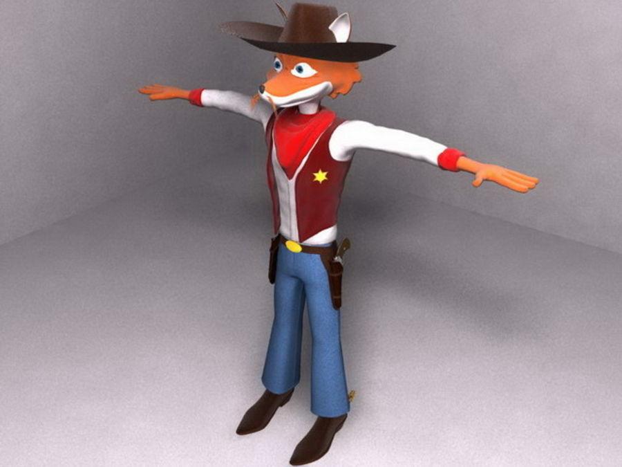 FOX MAN royalty-free 3d model - Preview no. 3