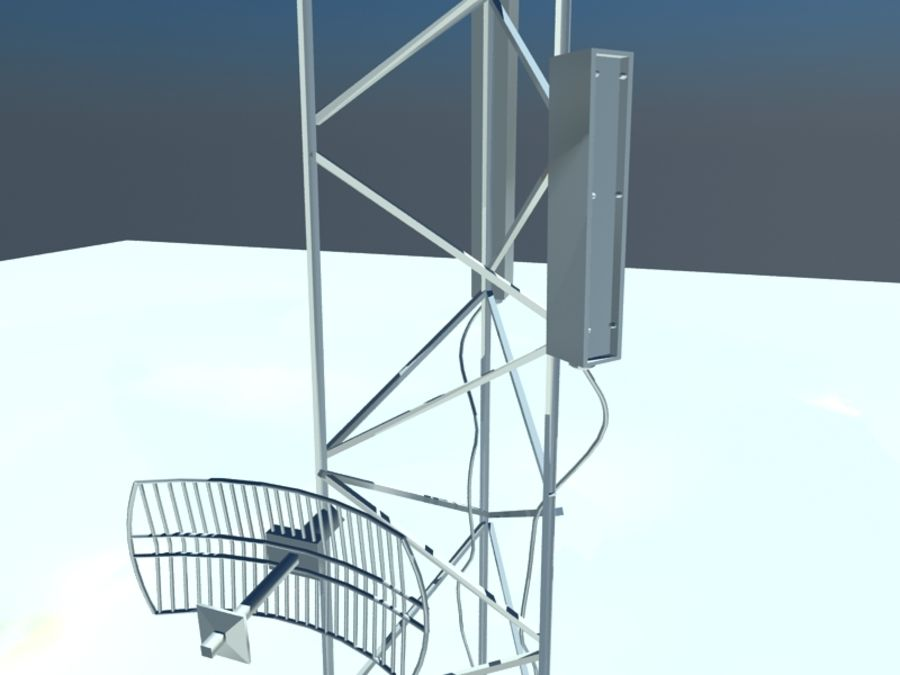 Communicatie Antennes royalty-free 3d model - Preview no. 2