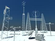 Communicatie Antennes 3d model