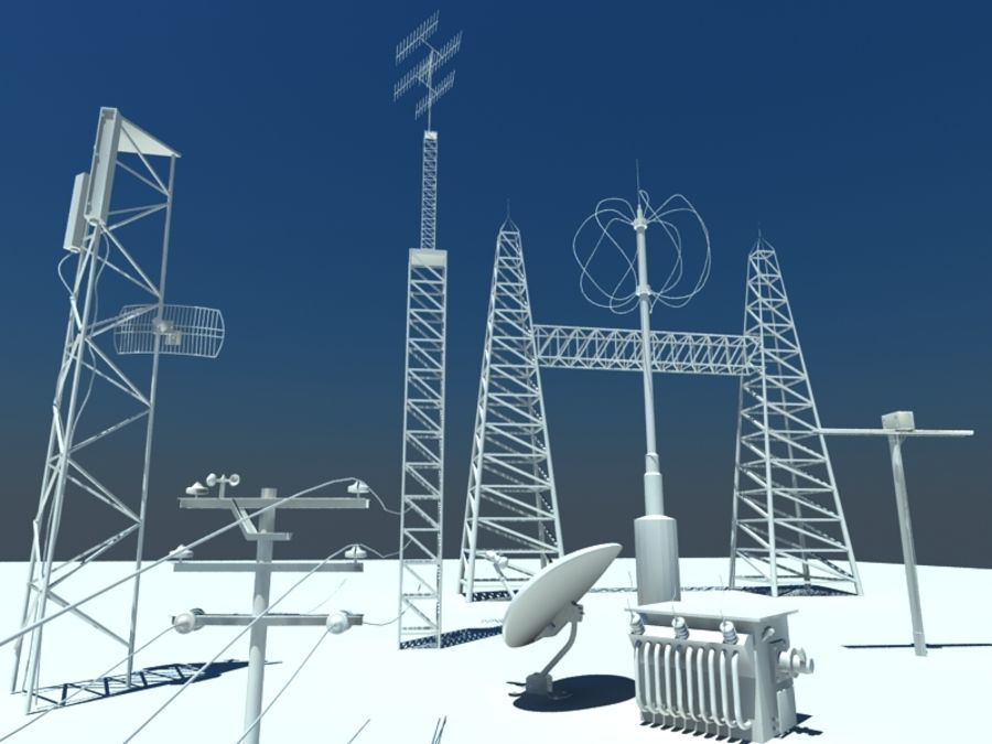Communicatie Antennes royalty-free 3d model - Preview no. 1