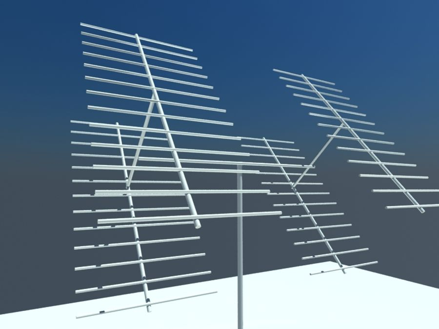 Communicatie Antennes royalty-free 3d model - Preview no. 3