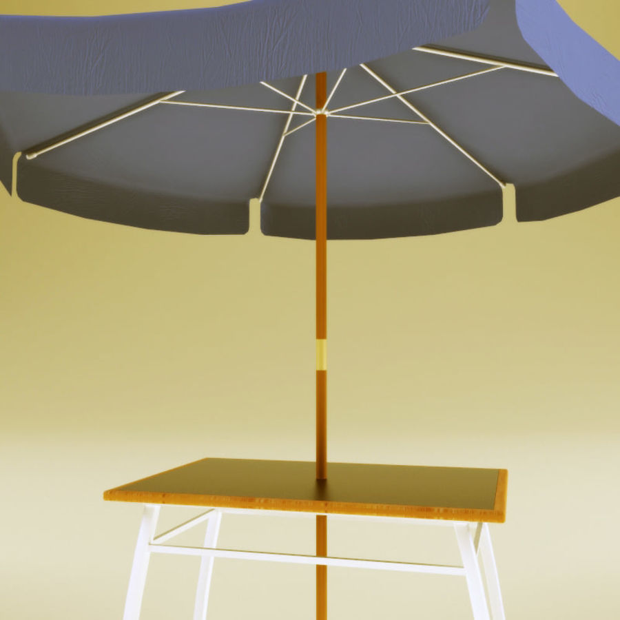 Garden furniture collection royalty-free 3d model - Preview no. 8