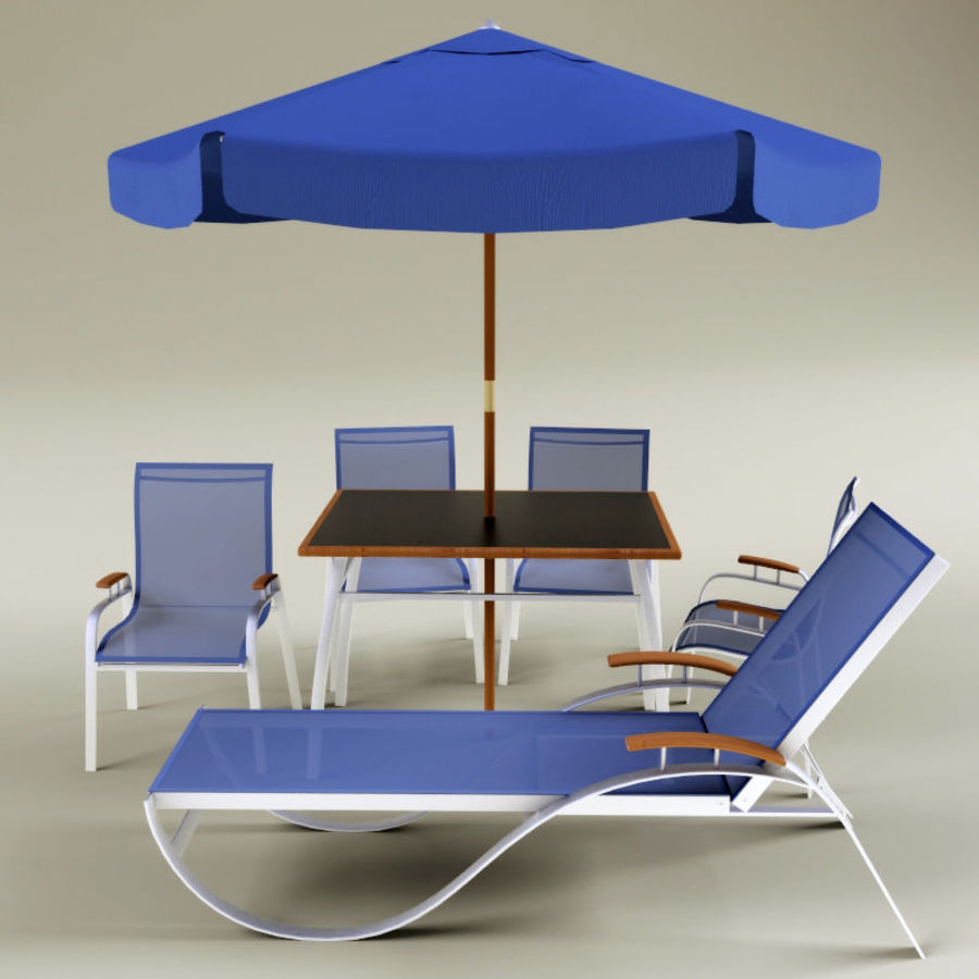 Garden furniture collection royalty-free 3d model - Preview no. 2