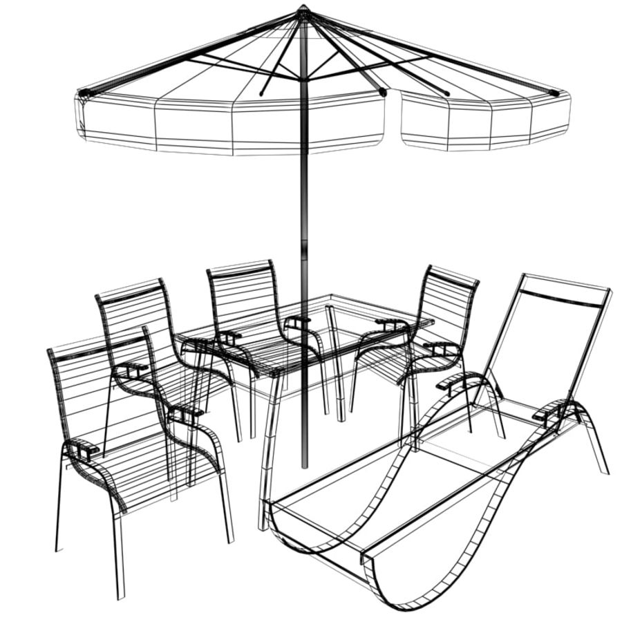 Garden furniture collection royalty-free 3d model - Preview no. 10