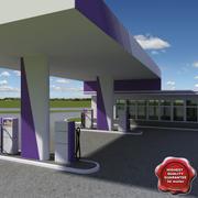 Gas station V13 3d model