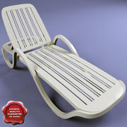 Deck-chair V3 3d model