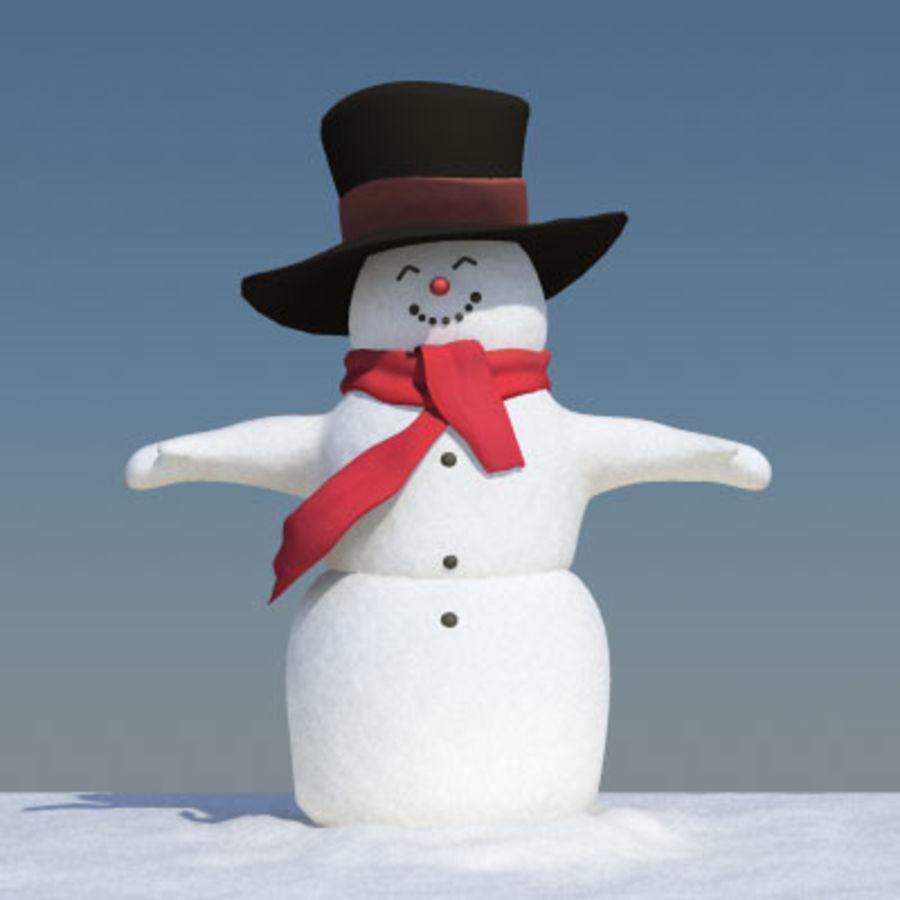 Snowman royalty-free 3d model - Preview no. 2