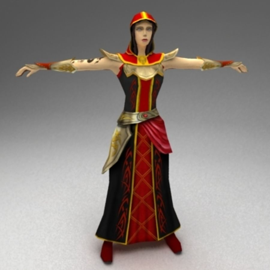 Female mage royalty-free 3d model - Preview no. 2