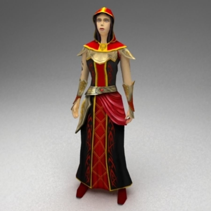 Female mage royalty-free 3d model - Preview no. 1