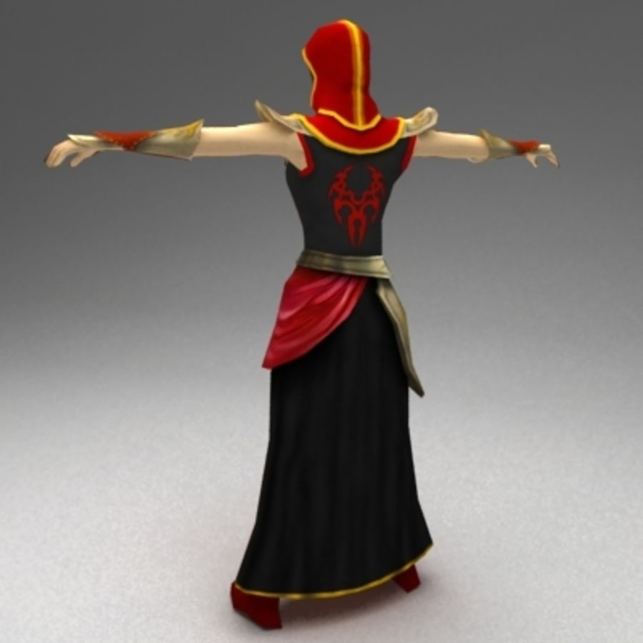 Female mage royalty-free 3d model - Preview no. 3