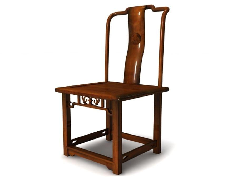 Rottangstol - Högkvalitativ möbel 3d-modell royalty-free 3d model - Preview no. 2