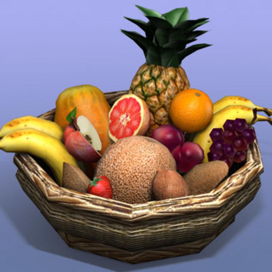 Fruit Basket royalty-free 3d model - Preview no. 3