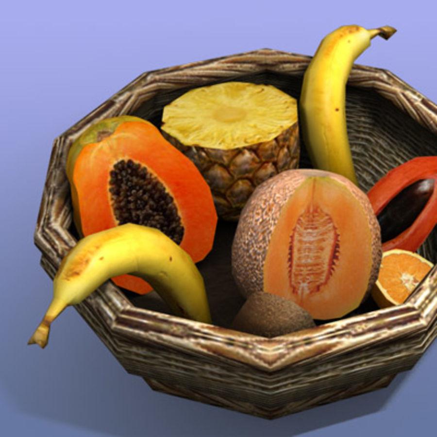 Fruit Basket royalty-free 3d model - Preview no. 6