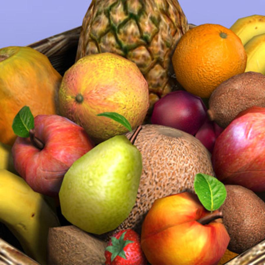 Fruit Basket royalty-free 3d model - Preview no. 7