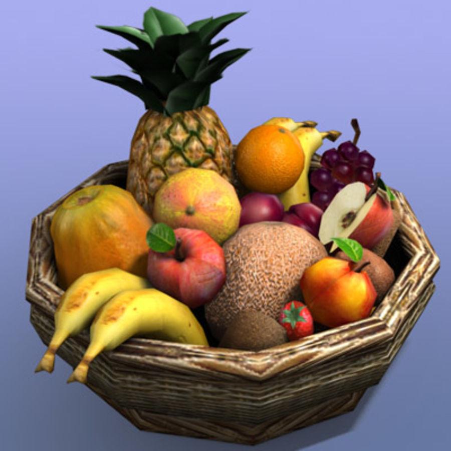 Fruit Basket royalty-free 3d model - Preview no. 2
