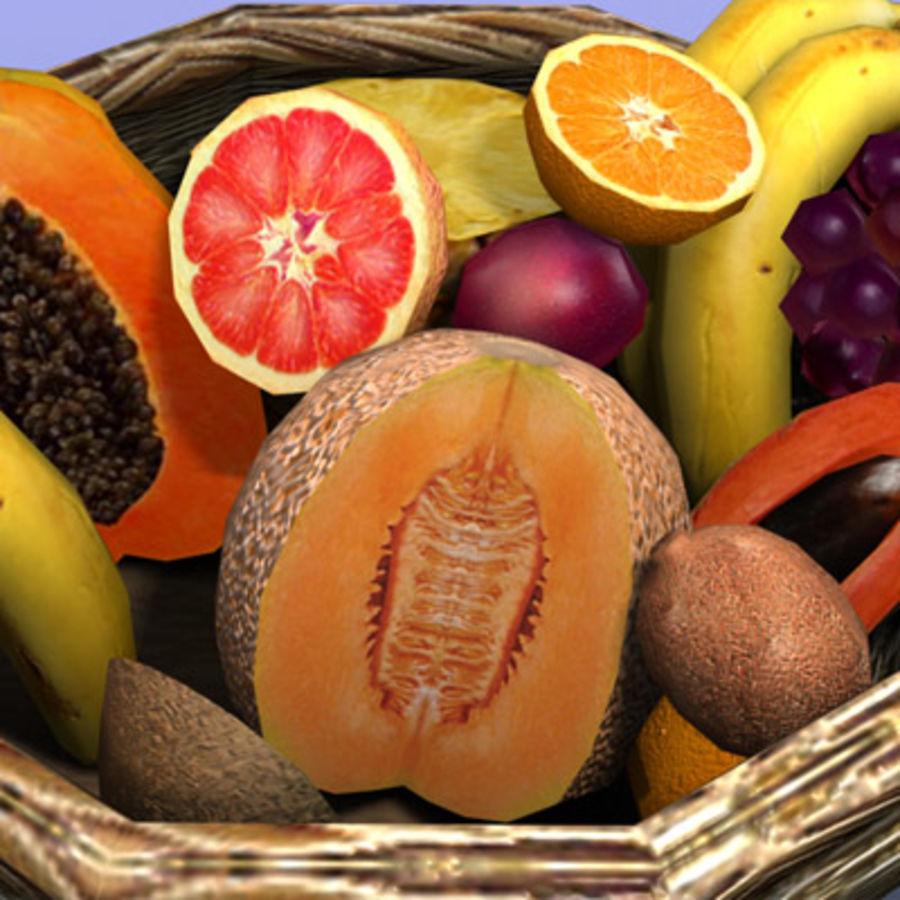 Fruit Basket royalty-free 3d model - Preview no. 8