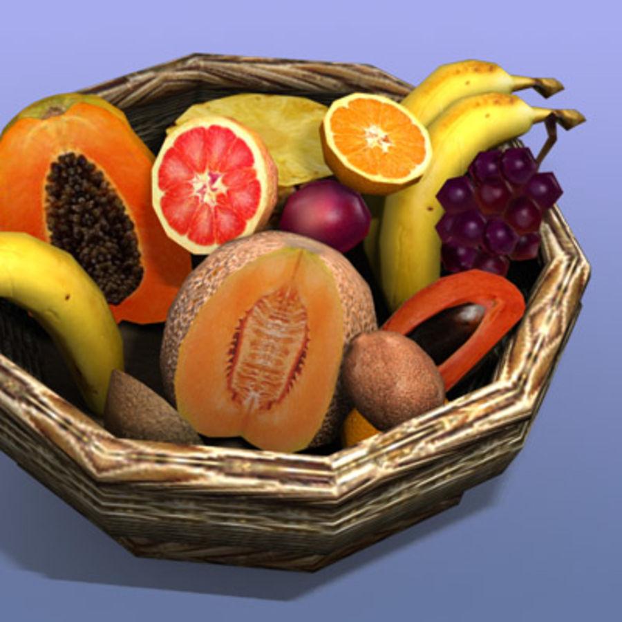 Fruit Basket royalty-free 3d model - Preview no. 5