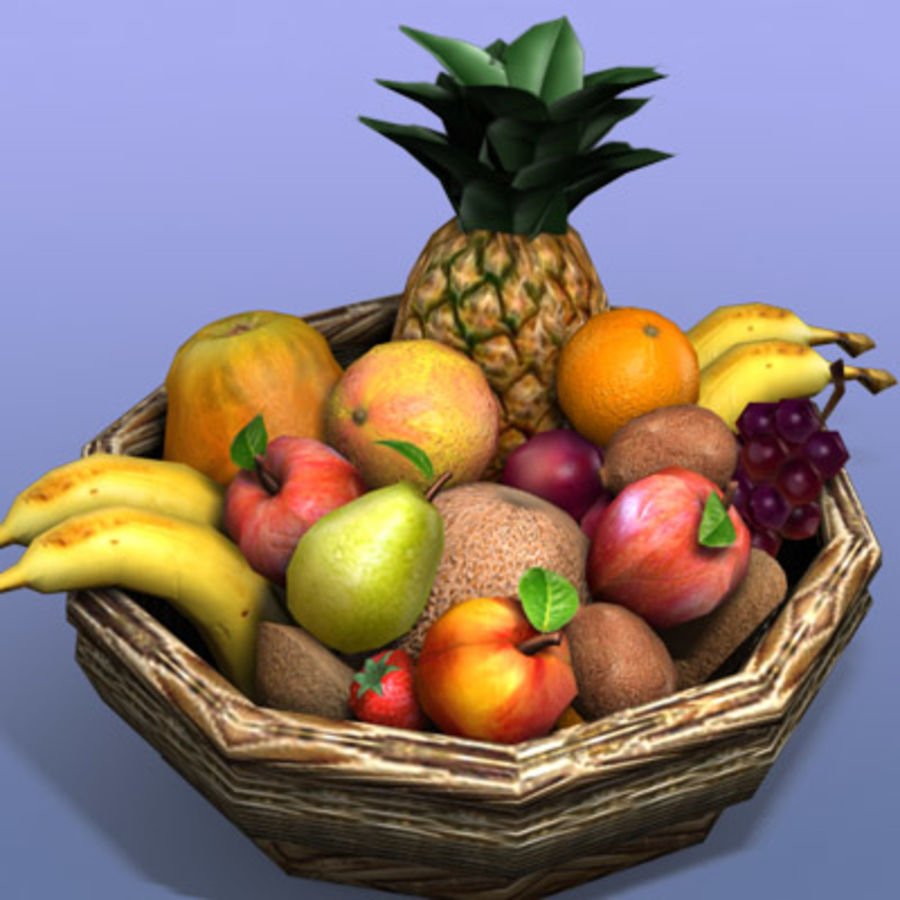 Fruit Basket royalty-free 3d model - Preview no. 1