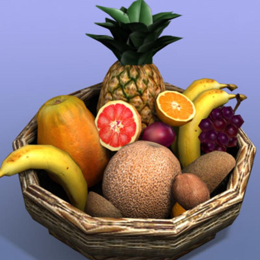 Fruit Basket royalty-free 3d model - Preview no. 4