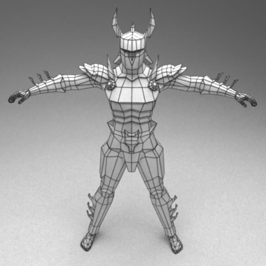 Fantasy warrior royalty-free 3d model - Preview no. 3