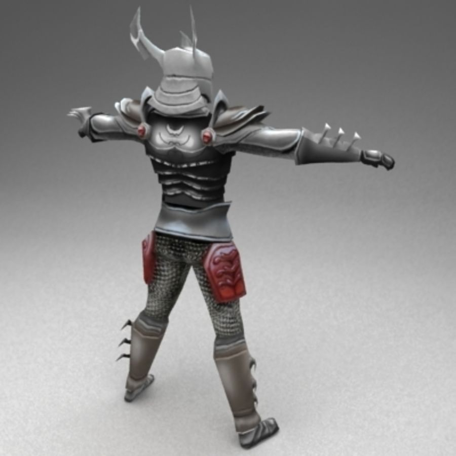 Fantasy warrior royalty-free 3d model - Preview no. 2
