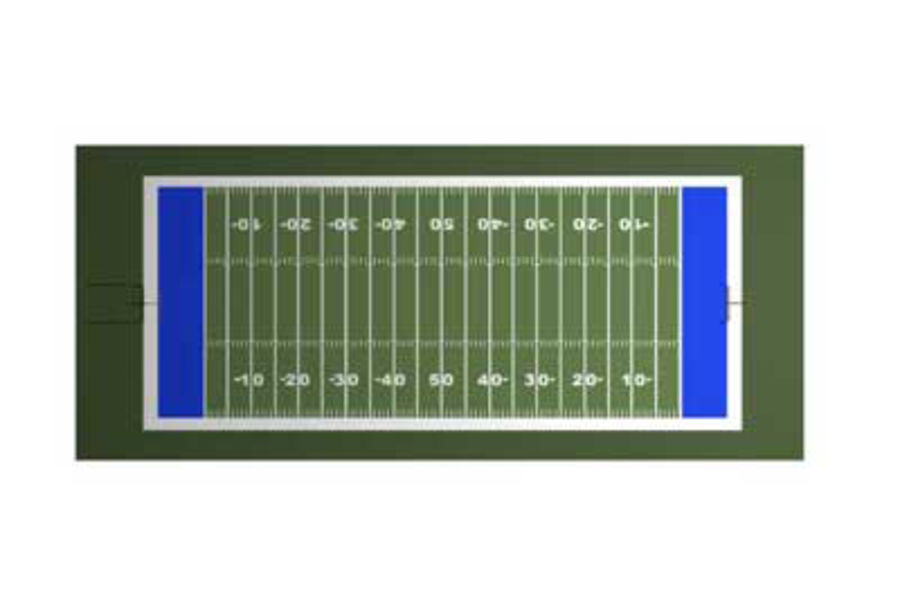 FOOTBALL FIELD royalty-free 3d model - Preview no. 3