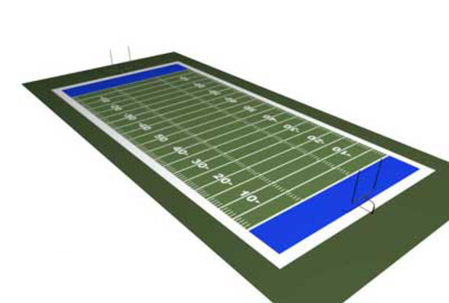 FOOTBALL FIELD royalty-free 3d model - Preview no. 2