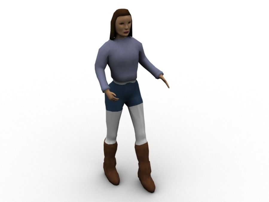 Female Character royalty-free 3d model - Preview no. 3