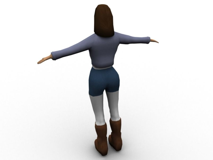Female Character royalty-free 3d model - Preview no. 2