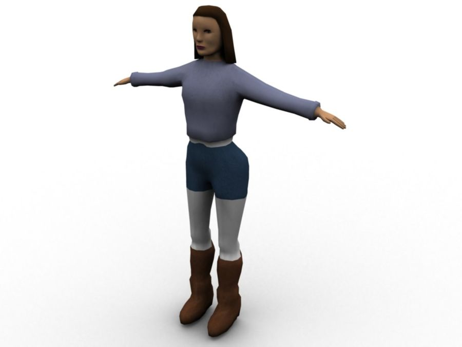 Female Character royalty-free 3d model - Preview no. 1