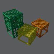 Australian Milk Crate with open face 3d model