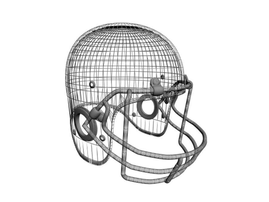 CASQUE DE FOOTBALL AMÉRICAIN royalty-free 3d model - Preview no. 6