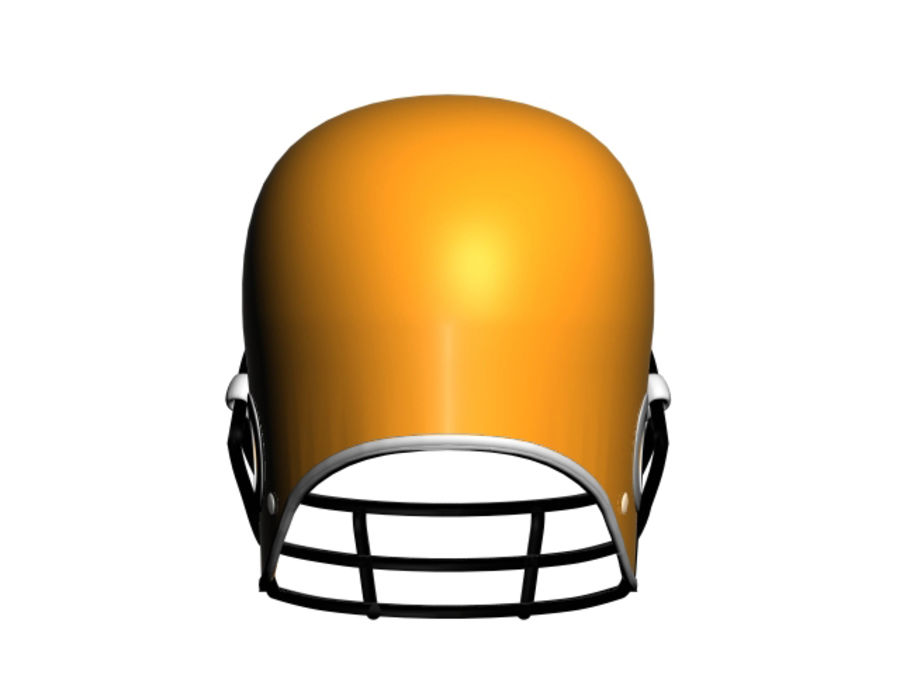 CASQUE DE FOOTBALL AMÉRICAIN royalty-free 3d model - Preview no. 5