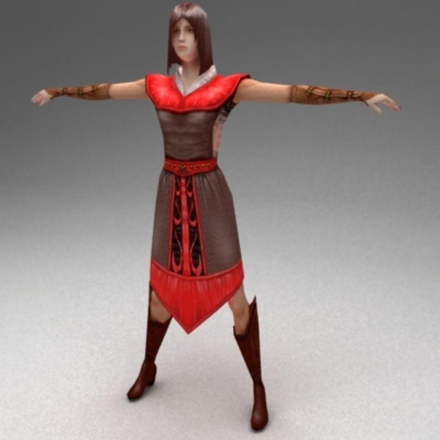 Kadın vatandaş royalty-free 3d model - Preview no. 1