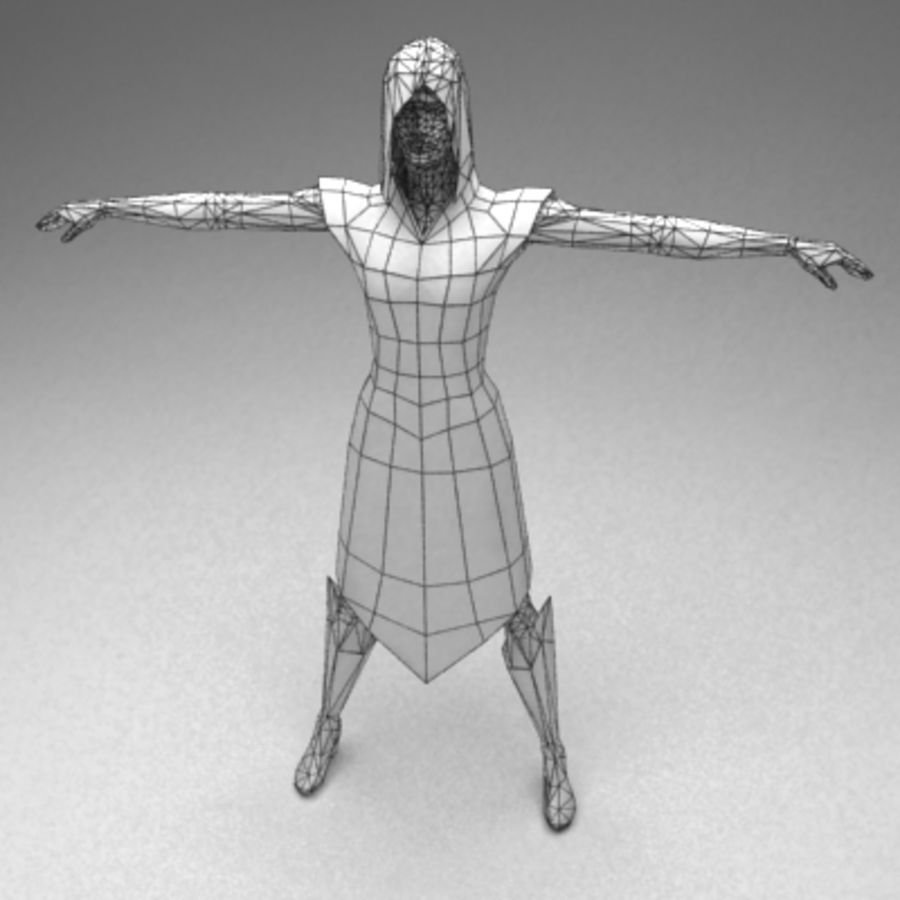 Kadın vatandaş royalty-free 3d model - Preview no. 5