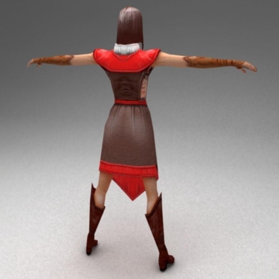 Kadın vatandaş royalty-free 3d model - Preview no. 3