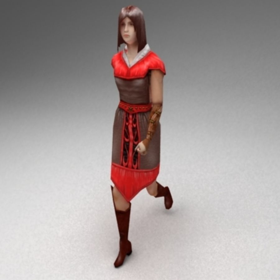 Kadın vatandaş royalty-free 3d model - Preview no. 2
