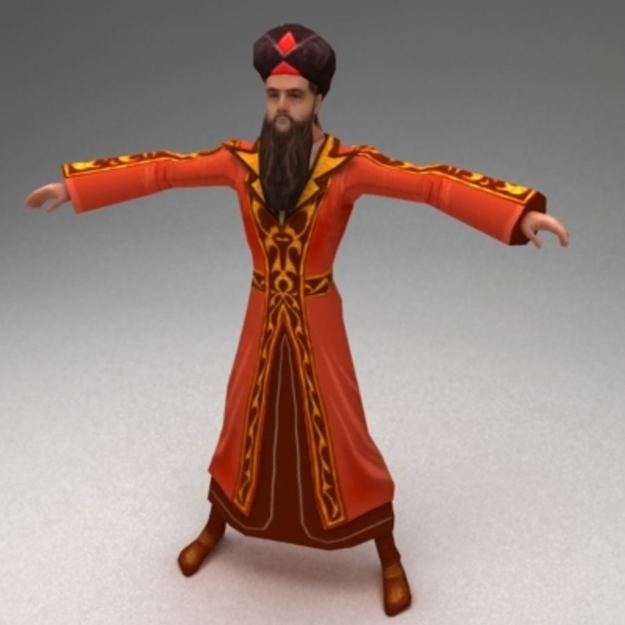 Arab mage royalty-free 3d model - Preview no. 1