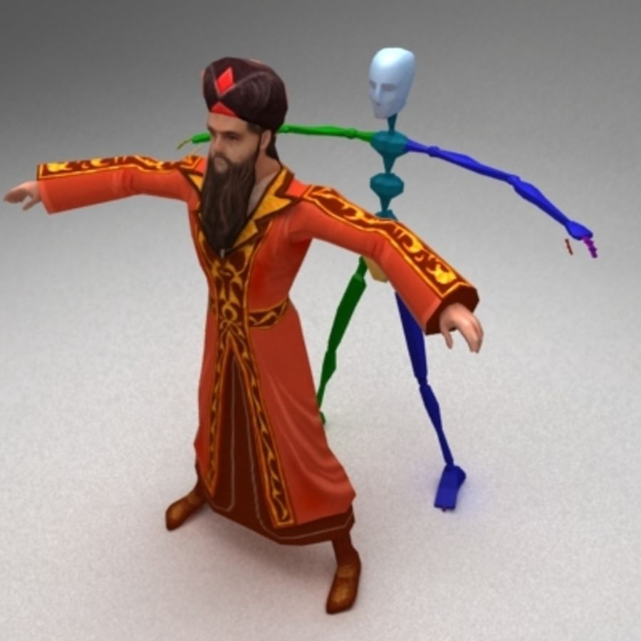 Arab mage royalty-free 3d model - Preview no. 3