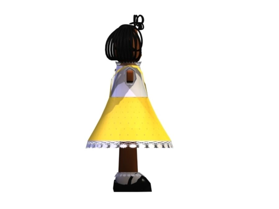 DOLL CARTOON royalty-free 3d model - Preview no. 3