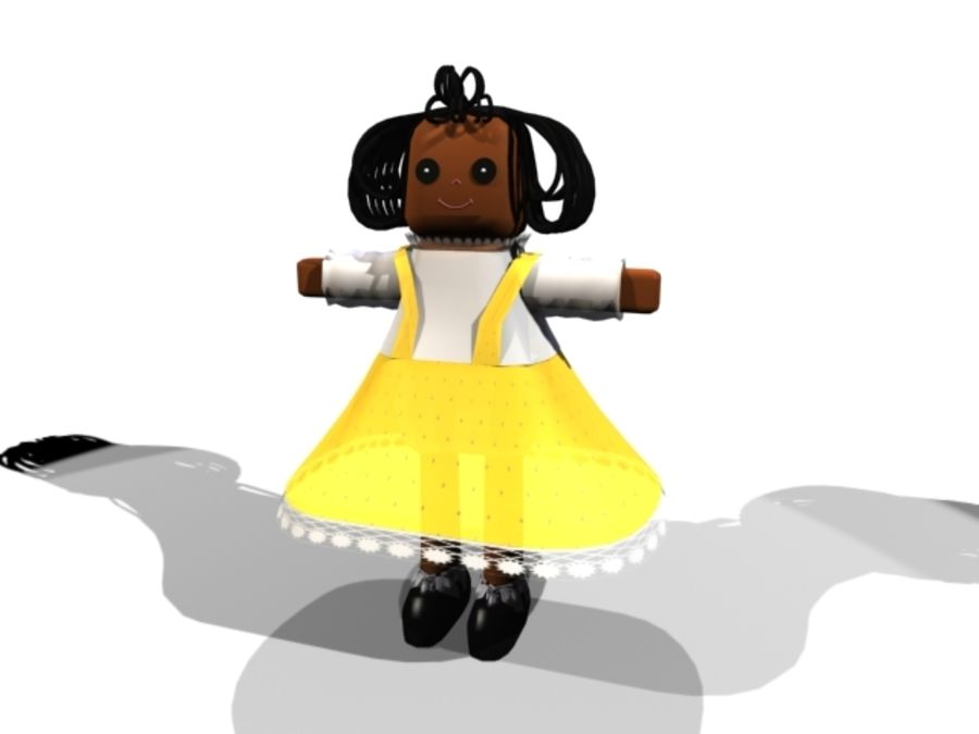 DOLL CARTOON royalty-free 3d model - Preview no. 1