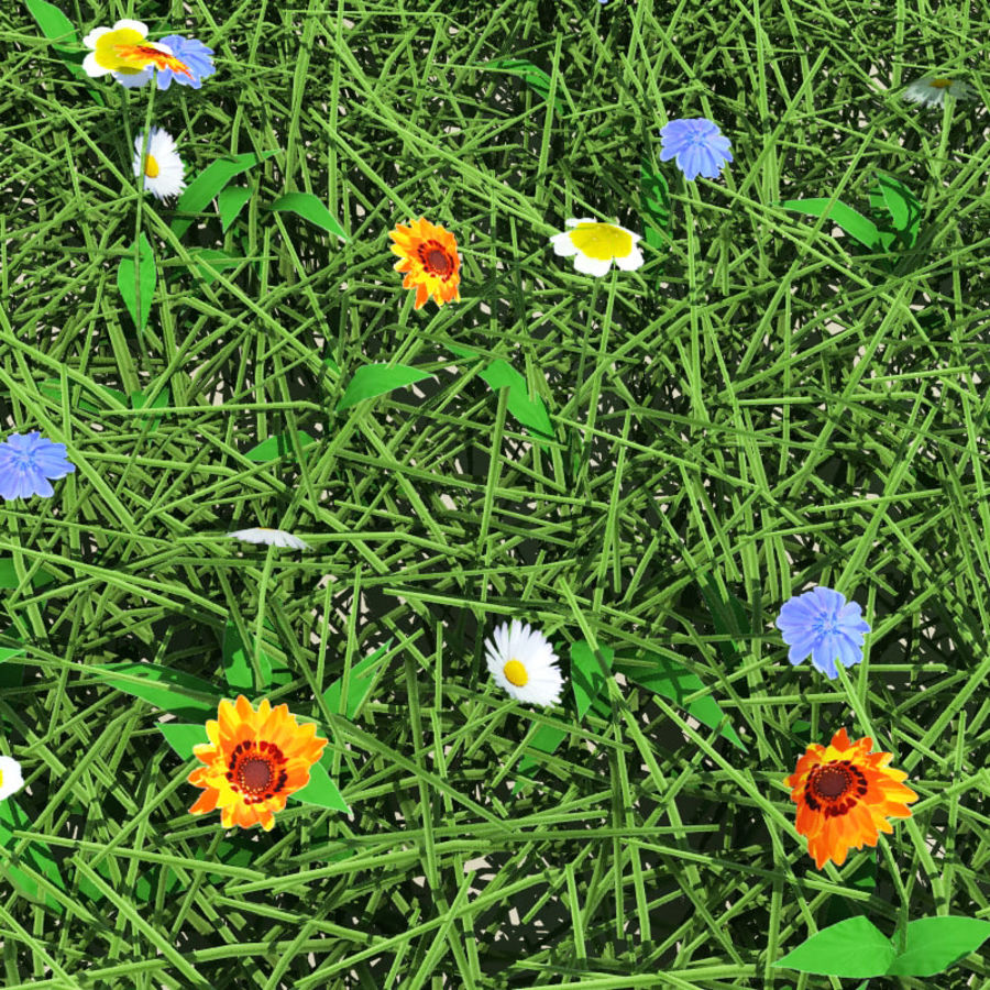 Meadow Mix royalty-free 3d model - Preview no. 4
