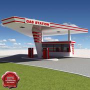 Posto de gasolina V23 3d model