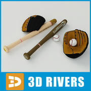 Baseball equipment set by 3DRivers 3d model