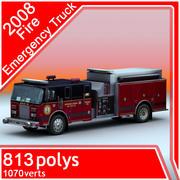 2008 Fire Emergency Truck 3d model