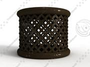 Bamileke Stool - High Quality Furniture 3d model 3d model